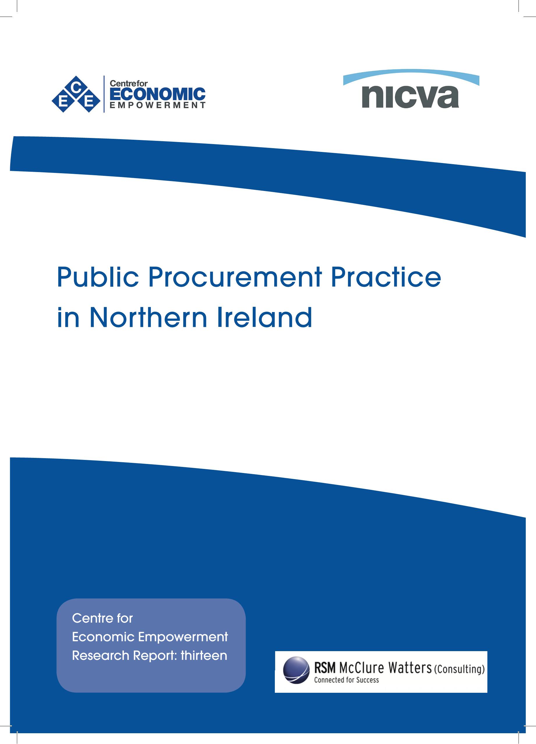 Public Procurement Practice in Northern Ireland   NICVA