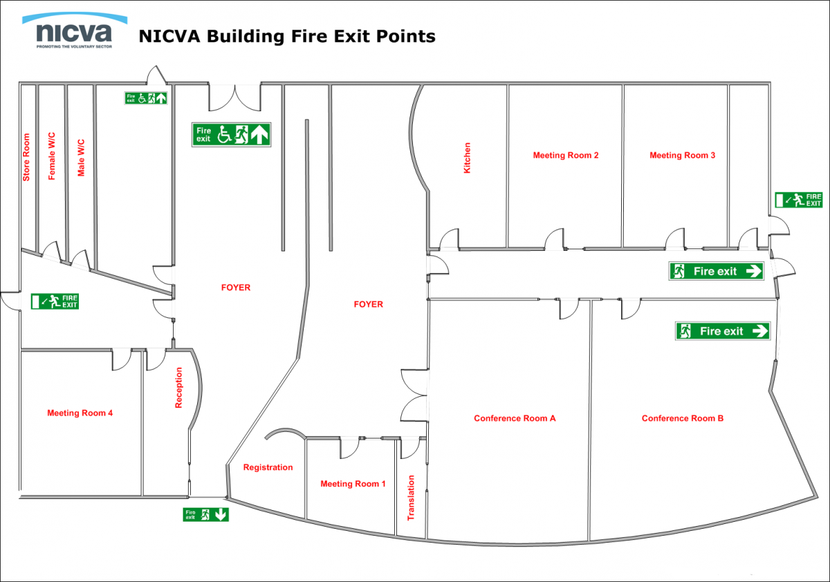 fire evacuation procedures and first aid at nicva nicva