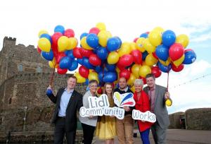 Paul Gibson (left) with the Lidl Community Works judges