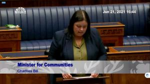 Communities Minister introduces the Charities Bill to the NI Assembly