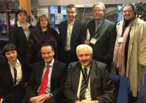 Voluntary and community sector delegation who met with departmental Finance Directors.