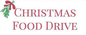 Christmas Food Drive 2018 – Donations needed