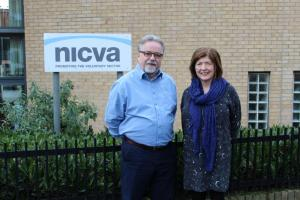 Sue Gray, Permanent Secretary at the Department of Finance and Seamus McAleavey, Chief Executive of NICVA