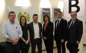 NICVA and BBC NI staff pictured at the MediaConnect launch