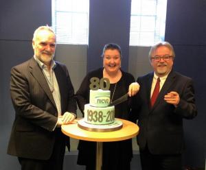 Vice Chair, Peter McBride; Chair, Marie Cavanagh and NICVA Chief Executive Seamus McAleavey