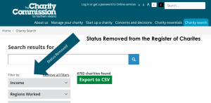 Status Removed from Register of Charities