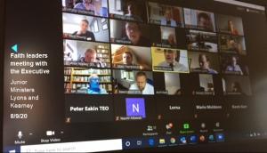 Faith leaders meet with Junior Ministers Lyons and Kearney