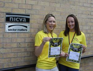 Sector Matters HR Consultant Louise Foster and NICVA HR Manager Alex McGimpsey