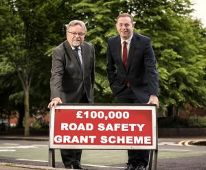 NICVA Chief Executive, Seamus McAleavey and Infrastructure Minister Chris Hazzard launch the 2016/17 Road Safety Grant Scheme