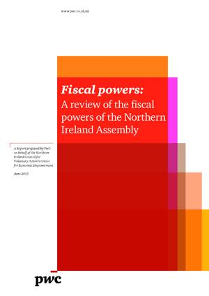 Review of the Fiscal Powers of the Northern Ireland Assembly Report Cover