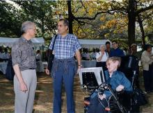 "Stephen Hawking - here at a conference with renowned physicists David Gross (left) and Ed Witten - has said he would consider ending his own life if he had ""nothing more to contribute"""