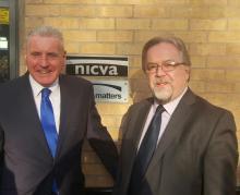 SSoS Vernon Coaker, NICVA CEO Seamus McAleavey